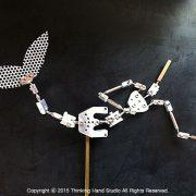영국 국립영화학교를 위해 제작한 인어 관절뼈대 Armature